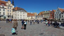 Free Town, Town Square, City, Plaza Stock Image - 119866001