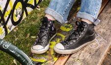 Free Footwear, Shoe, Yellow, Sneakers Stock Images - 119866164