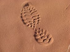 Free Sand, Footprint, Close Up, Material Royalty Free Stock Photo - 119866775