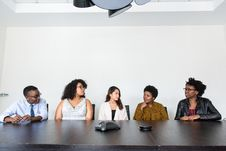 Free Five People Having Conversation Stock Photo - 119926190