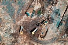Free Bird S Eye View Photo Of Heavy Equipment On Construction Site Royalty Free Stock Images - 119926309