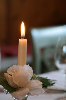 Free Candle, Flower, Lighting, Centrepiece Royalty Free Stock Image - 119960406
