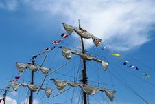 Free Sky, Sailing Ship, Mast, Tall Ship Stock Image - 119961341