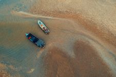 Free Bird S-eye View Of Two Boats On Water Near Shore Stock Images - 119999844