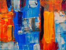 Free Multicolored Abstract Painting Royalty Free Stock Image - 119999906