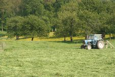 Free Tractor On Field Royalty Free Stock Photography - 124497