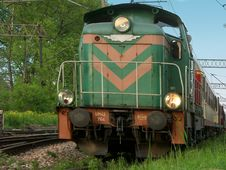 Free Old Diesel Locomotive Royalty Free Stock Photos - 124498