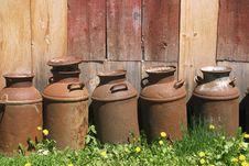 Free Metal Jugs Stock Image - 127221
