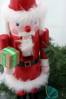 Free Santa Nutcracker On Pine Stock Photo - 128510