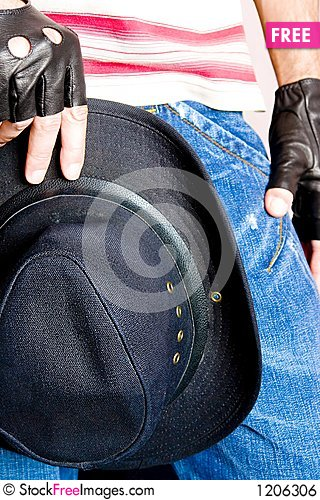 Urban Cowboy Stock Photo