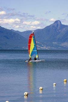Free Catamaran In A Lake Royalty Free Stock Image - 1200256
