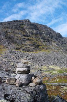 Stone Beacon (menhir) Stock Images