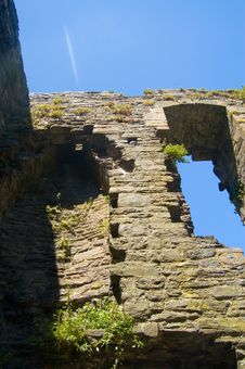 The Ruins Of Conway Castle Stock Images
