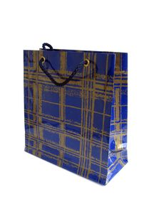 Free Blue Brightly Colored Shopping Bag Isolated Over A White Backgro Stock Images - 1202264