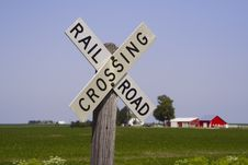 Free Railroad Crossing Sign II Stock Photos - 1202343