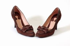 Free Brown Suede Shoes Royalty Free Stock Images - 1203709
