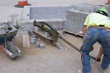 Free Mason Cutting Brick_7935-1S Stock Photo - 1204960