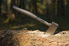 Free Sticked Wood Axe Royalty Free Stock Photo - 1207135