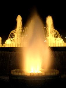 Fountains In Barcelona, Detail Royalty Free Stock Images
