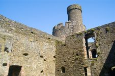 Castle Tower And Walls Stock Photos