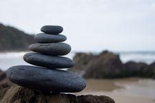 Free Photo Of Stacked Rocks Near Shore Royalty Free Stock Image - 120074746
