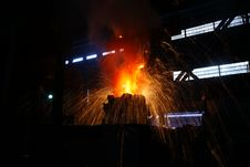 Free Steelmaking Iron Works Stock Image - 12017381