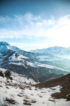 Free Photo Of Mountains Covered By Snow Stock Photos - 120142563
