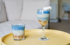 Free Two Clear Drinking Glasses Stock Photo - 120142630