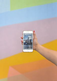 Free Person Using Iphone Stock Image - 120142641