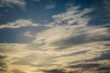 Free Blue Sky With Clouds Stock Photos - 120148443