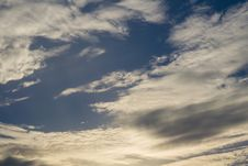 Free Blue Sky With Clouds Stock Photography - 120148482