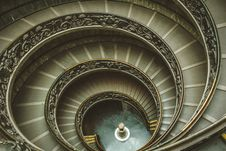 Free Gray Spiral Stairs Stock Photography - 120360932