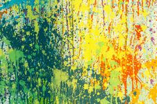 Free Yellow, Green, And Red Abstract Painting Royalty Free Stock Photography - 120361037