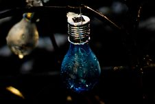 Free Closeup Photo Of Blue Light Bulb Stock Photography - 120361132
