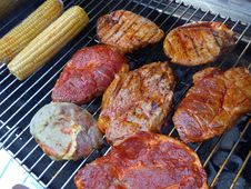 Free Grilling, Meat, Barbecue, Grillades Royalty Free Stock Photo - 120411705