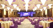 Free Function Hall, Purple, Banquet, Ballroom Stock Images - 120411894
