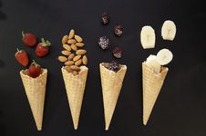 Free Ice Cream Cone, Ice Cream, Dessert, Dairy Product Stock Photography - 120412142