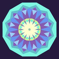 Round Iridescent Geometric Background Royalty Free Stock Image