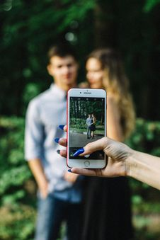 Free Person Talking Photo Of Couple Stock Photos - 120462603