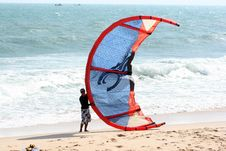Free Surfing Equipment And Supplies, Wind, Sailing, Shore Stock Images - 120483334