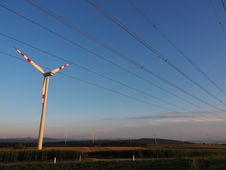 Free Sky, Wind Turbine, Wind Farm, Overhead Power Line Royalty Free Stock Photo - 120483565