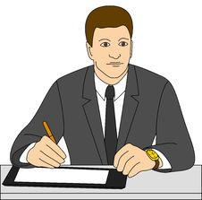 Free Businessman Signs A Contract Royalty Free Stock Photos - 12055498