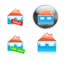 Free Real Estate Icons Stock Photo - 12056260