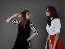 Free Two Woman Facing Each Other Stock Photos - 120524153