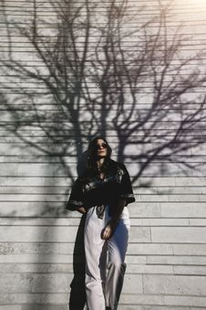 Free Photography Of Woman Leaning On Wall Royalty Free Stock Photo - 120524275