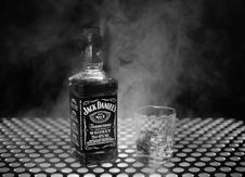 Free Liqueur, Bottle, Black And White, Glass Bottle Stock Photography - 120554412