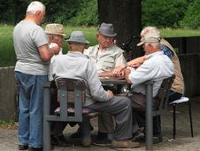 Free Senior Citizen, Sitting, Male, Recreation Stock Images - 120654144