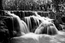 Free Water, Waterfall, Nature, Black And White Royalty Free Stock Images - 120655699