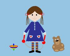 Free Child With Skipping Rope Stock Photo - 12078050