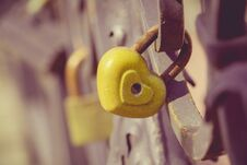 Free Wedding Locks Macro Retro Stock Image - 120759641